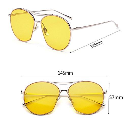 miroir Star modèles soleil lunettes transparent lunettes HL couleur de femme garde cadre personnalité grenouille jaune avant marée Des hommes q8npq