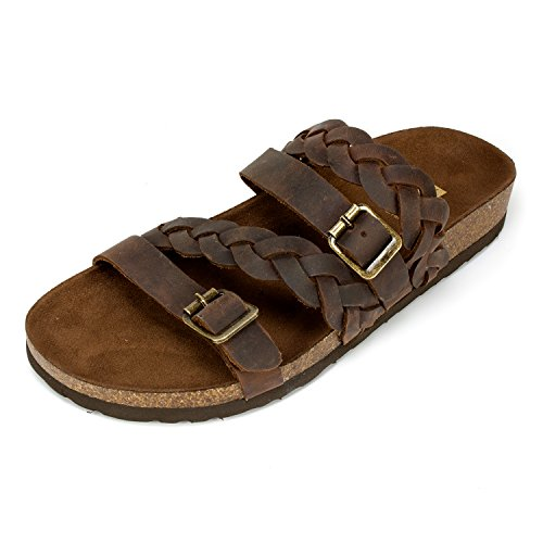 WHITE MOUNTAIN Women's Holland Sandal, Brown, 8 Medium US from WHITE MOUNTAIN