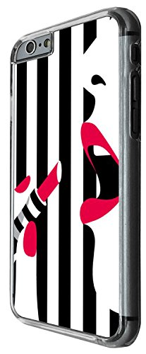 1416 - Cool Fun Trendy cute make up bloggers favourite black and white sexy lips lipstick Design iphone 5C Coque Fashion Trend Case Coque Protection Cover plastique et métal - Clear