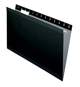 Pendaflex Hanging Folder, Black, 1/5 Tab, Legal, 25 per Box (04153 1/5 BLA)