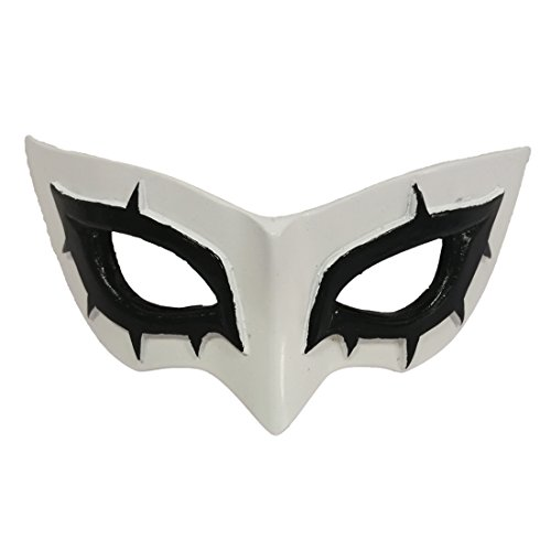 Marrol P5 Persona 5 Hero Arsène Joker Mask White Resin Cosplay Prop Comic Con Halloween Party Masque