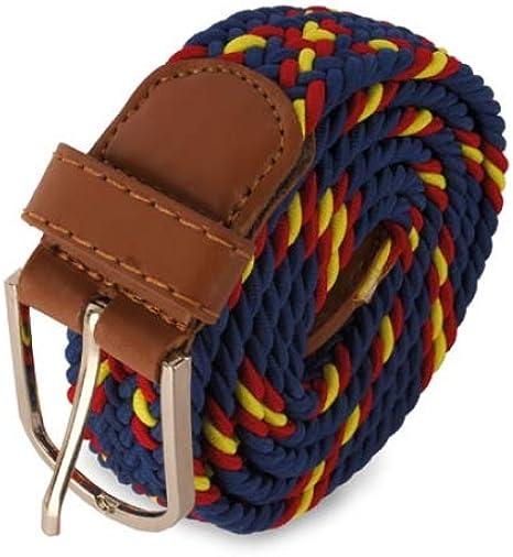 Deliex delicias de Extremadura Cinturón para hombre Color Marino y bandera España: Amazon.es: Ropa y accesorios