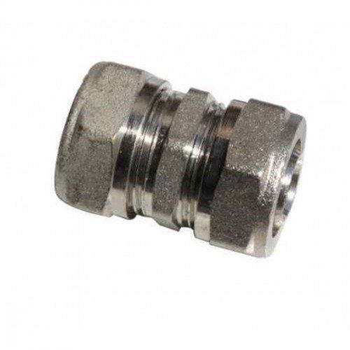 Dismy Straight Connector Underfloor Heating Pipe, Silver, 16 mm, Set of 5 Piece Boulder Developments Ltd.