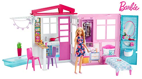 Barbie Pink House - Barbie Doll, House, Furniture and Accessories [Amazon Exclusive]
