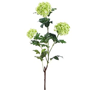 "22.5"" Silk Snowball Flower Spray -Green (pack of 12) 107"