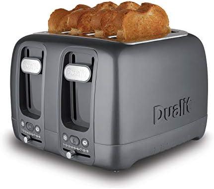 Dualit 46603 Domus 4 Slot Toaster, 2250 W, Grey
