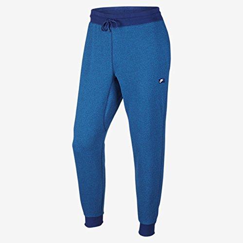 Men's Nike AW77 Shoebox Cuffed Sweatpants (727397-455) - DEEP ROYAL BLUE/LIGHT PHOTO BLUE/HEATHER (Large)