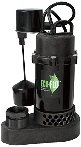 ECO-FLO Products SPP50V Thermoplastic Sump Pump with Vertical Swirch, 1/2 HP, 4,080 GPH by ECO-FLO Products