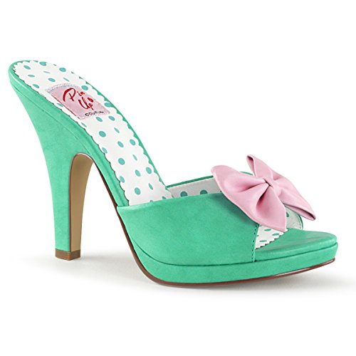Bow Couture 6 03 Platform Siren up Women's Teal w Pin Slide 5xnA8q77w