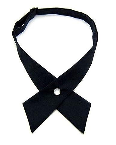 Tie for Men Women,Nodykka Pre Tied Adjustable Cross Tie Criss-Cross Bowtie for Girl Boy - Cross Strap Bow