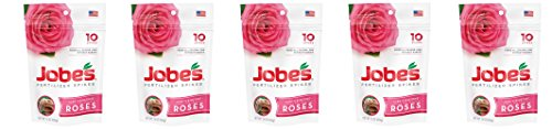 Jobes Rose GNYdnW Fertilizer Spikes 9-12-9 Time Release Fertilizer for All Flowering Shrubs, 10 Count (Pack of 5)