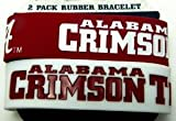 Alabama Crimson Tide Bama Ncaa Football Silicone Rubber Wrist Bands Bracelets Set of 2
