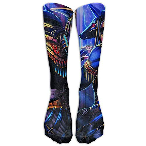 Casual Long Running High Socks Stockings Egyptian God Anubis Girls Fashion Crew Sport One Size Tube Knee Sock Gifts Stocking]()