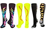 MadSportsStuff Stitch Flame Love Softball Socks Softball Pack (Softball Pack-Multi, Large)