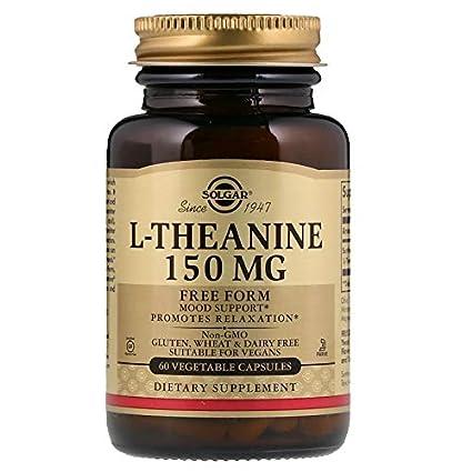 Solgar L-Teanina Cápsulas vegetales de 150 mg - Envase de 60