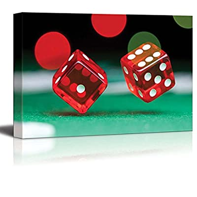 Two Casino Dice - Canvas Art