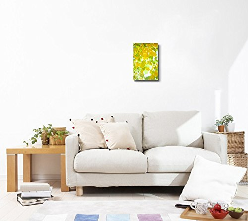 Yellow Autumn Leaves on The Tree with Sunlight Wall Decor