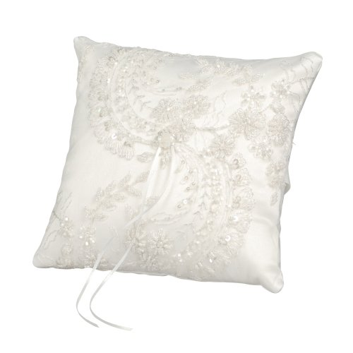 Ivy Lane Design Victorian Collection Ring Pillow, White