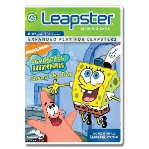 Leapster Leap Frog Spongebob Sponge Bob Square Pants Saved the Day Game Educational Money Skills Addition Matching Logic Math Music K - 1st Grade Ages 5 - 7 Brand -