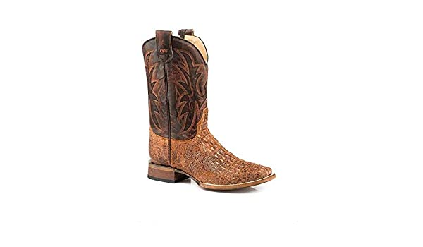 2aa25f6d1a0 Amazon.com : Roper Men's Size 11 Brown Pierce Emboss Leather ...