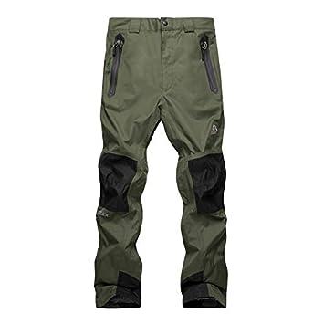 EDTara Men's Snow Pants Outdoor Waterproof Hiking Mountain Ski Pants, Windproof Warm Snowboarding Pants