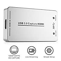 TNP UH60 HDMI to USB 3.0 Capture Card Device Dongle - HDMI Full HD 1080P Video Audio to USB Adapter Converter Compatible with Windows Mac Linux