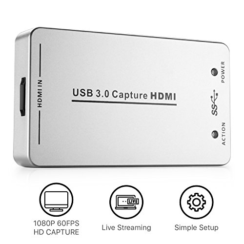 Usb Capture 1 Adapter Video - TNP UH60 HDMI to USB 3.0 Capture Card Device Dongle - HDMI Full HD 1080P Video Audio to USB Adapter Converter Compatible with Windows Mac Linux