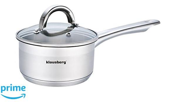 Klausberg Olla con Tapa y Mango 1.0 litros 14 cm KB de 7132 Acero Inoxidable: Amazon.es: Hogar