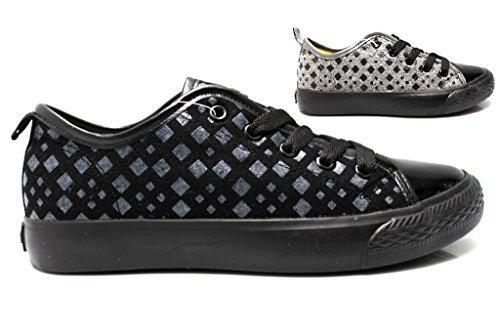 Fiorucci FDAD018 Negro y gris Mujer Zapatillas De Deporte Calzado Cómodo mujer Negro