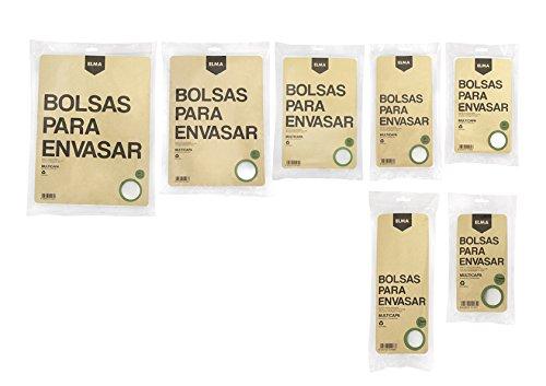 Elma - Bolsas gofradas envasado al vacío 25x35 cm (50 uds ...