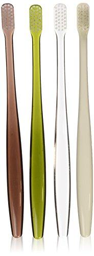 MUJI Flat Type Toothbrush, Four colors Set