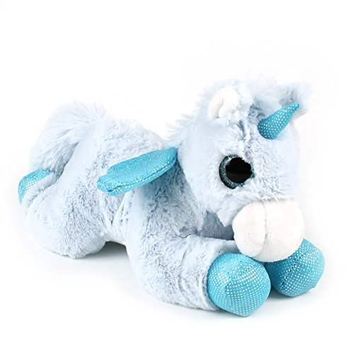 11 Inches Soft Plush Toy Blue Unicorn With A Pair of Lovely Wings Plush Toy Beautiful Big Eyes Cute Stuffed Animal - Unicorn With Wings Stuffed Animal