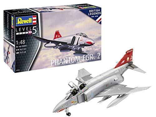 (Revell 04962 4962 1:48 British Phantom FGR.2 Plastic Model Kit, Multicolour, 1/48)