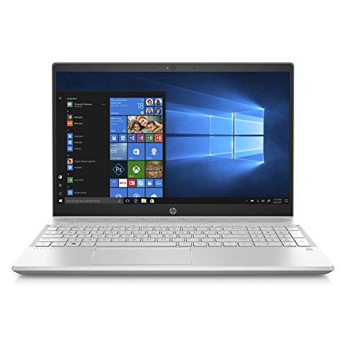 HP Pavilion 15-cs1001ne Laptop, Intel Core i7-8565U, 15.6 Inch, 1TB HDD + 128GB SSD, 16GB RAM, Nvidia Geforce MX150 (4GB Graphics), Win 10, Eng-Ara KB, Silver