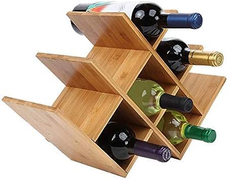 Vinoteca De Madera Para 8 Botellas,Botelleros De Madera Para Vino U Otras Bebidas Estante Para Botellas De Vino