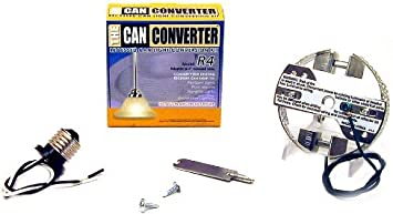 The Can Converter Model #R4 Recessed Can Light Conversion Kit for 4