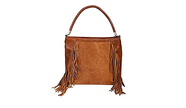 1b0b69175725 Scully Women s Brianne Fringe Purse Brown One Size  Handbags  Amazon.com