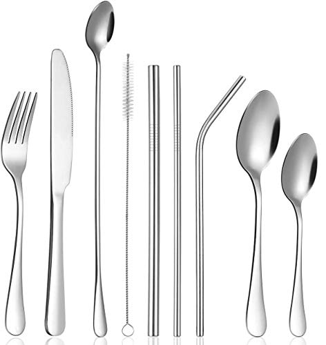 Silverware Set, OUDEKAY 36-Piece Stainless Steel Flatware Service for 4, Cutlery Utensil for Kitchen Home Restaurant…