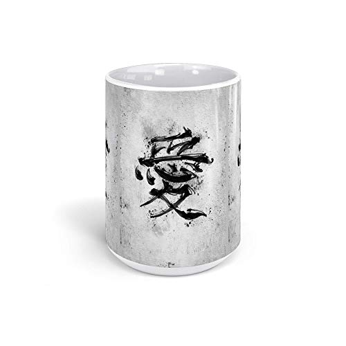 Ceramic Coffee Mug Japan Culture Cup Japanese Kanji Symbol Of Love Japanese & Asian Arts Asia Drinkware Super White Mugs Family Gift Cups 15oz 443ml