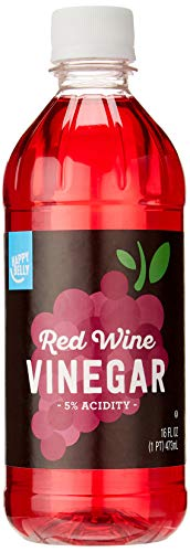 Vinegar Red Wine Dressing - Amazon Brand - Happy Belly Red Wine Vinegar, 16 Fluid Ounces