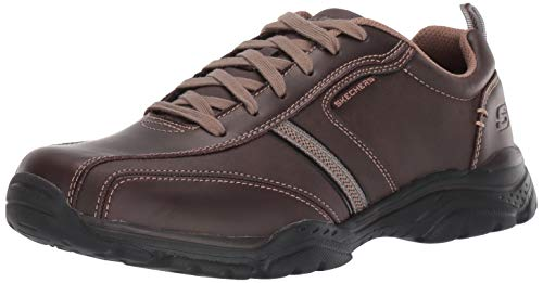 (Skechers USA Men's Men's Relaxed Fit-Rovato-Larion Oxford,9 M US,brown)