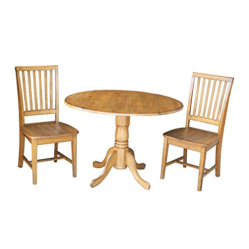 International Concepts 3 Piece Dinette Set in Pecan