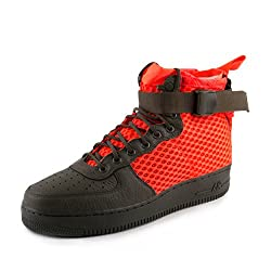Nike Mens Sf Af1 Mid Qs Cargo Khakicrimson Leather Size 9.5