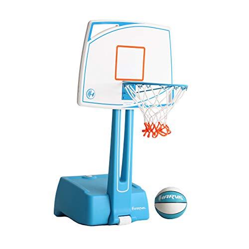 (Harvil Poolside Basketball Hoop with Smart Backboard Storage)