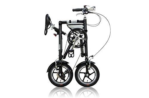 NANOO ナノー 折りたたみ自転車 人気の定番 12インチ アルミ製 B00E9PO74Mブラック 割引も実施中 シマノ7段変速 専用輸行バッグ トライフレームバッグ付属