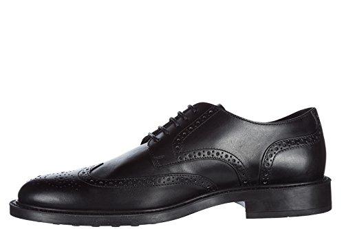 Mannen Tod De Schoenen Van Leer Mannen Zakelijke Schoenen Lace Derby Zwart