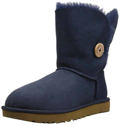 UGG Women's Bailey Button II Winter Boot, Navy, 8 M US (Uggs Bailey Women Bow)