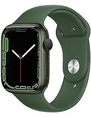 AppleWatch Series7 (GPS) • 45‐mm kast van groen aluminium • Klaver sportbandje- Standaardmaat