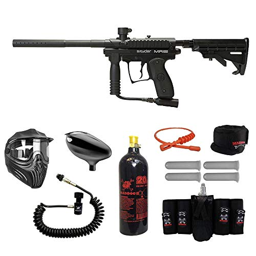 MAddog Spyder MR100 Pro Elite Remote CO2 Paintball Gun Package - Black