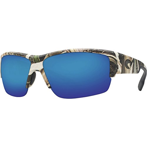 Costa Del Mar Sunglasses - Hatch- Plastic / Frame: Mossy Oak Shadow Grass Blades Camo Lens: Polarized Blue Mirror 580P - Mar Glasses Costa Camo Del